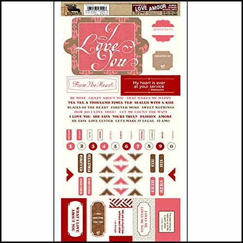 7gypsies 17490 97% Complete Journal Stickers Love