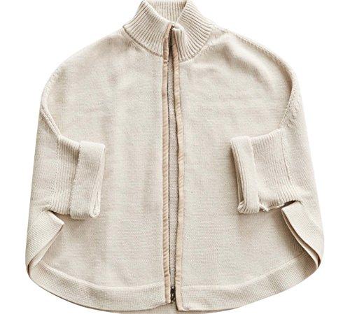 Mer Sea Travel Sweater - Zipper Cardi (Oyster) … by Mer Sea