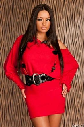 purchase cheap 49472 607b8 Sexy und Edles Strick Minikleid Damen Kleid Ohne Gürtel in ...