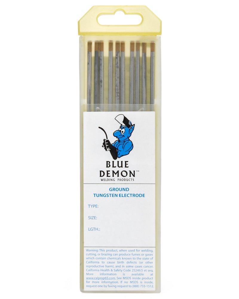 Blue Demon TE15L X 1//8 X 7 Tungsten Electrode 10-Pack