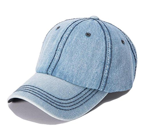 merican Flag Embroidered Operator Cap Baseball Hat (One Size, 1 Light Blue) ()