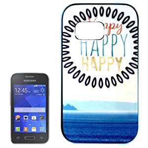 HAPPY Pattern Plastic Frame TPU Back Skin Protective Case Cover Carcasa Para Samsung Galaxy Ace 2% 2F G130