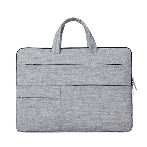 Macbook Pro Bag 15.4 inch Notebook Sleeve Business Water-resistant Laptop Handbag, Laptop Shoulder Bags with Handle for 15-15.6 Inch New MacBook Pro Notebook Computer -Grey