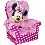Marshmallow Furniture, Children's Upholstered High Back Chair, Disney's Minnie Mouse, by Spin Master