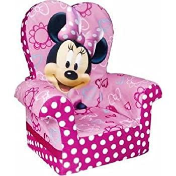 Marshmallow Furniture, Children's Foam High Back Chair, Disney's Minnie Mouse, by Spin Master