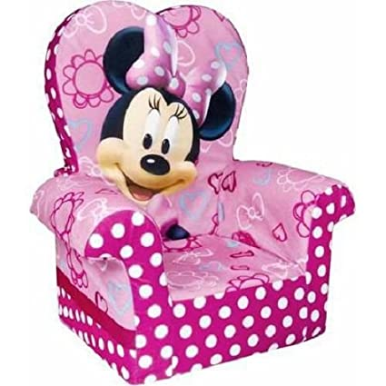 Charmant Marshmallow Furniture, Childrenu0027s Foam High Back Chair, Disneyu0027s Minnie  Mouse, By Spin Master