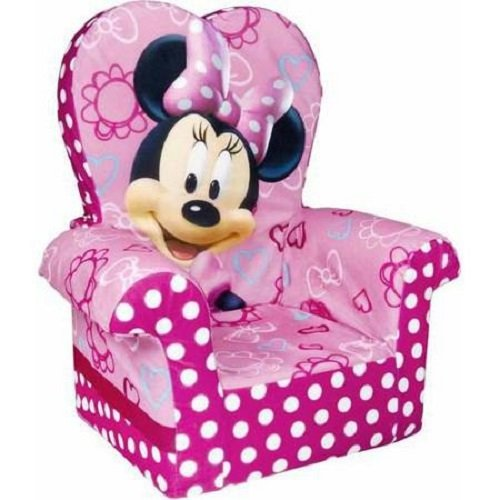 Marshmallow Furniture, Children's Upholstered High Back Chair, Disney's Minnie Mouse, by Spin Master Disney' s Minnie Mouse 6021862