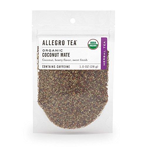 Allegro Tea, Organic Coconut Mate, Loose Leaf Tea, 1 oz