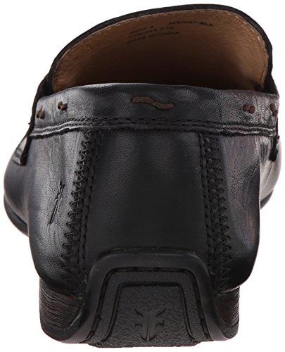 Frye Mænds Lewis Penny Dagdriver Sort Blødt Vintage Læder - 80267 i4NjLm