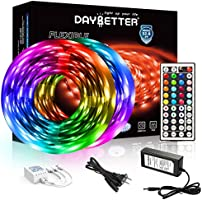 DAYBETTER Led Strip Lights 32.8ft 5050 RGB LEDs Color Changing Lights Strip for Bedroom, Desk, Home Decoration, with...