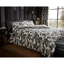 Camouflage 'Green' Bedding King Duvet Cover Set
