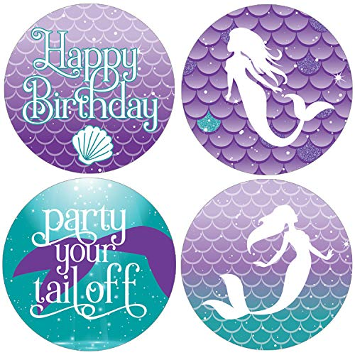 Mermaid Birthday Party Favor Labels | 1.75