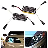 Heart Horse CCFL Inverter For Spyder Lights for BMW Mazda Lexus Infiniti Angel Eye Ring, 4-Outputs 12V High Power Female Ballast Replacement 1 For 2 Lamps,Up to 300mm