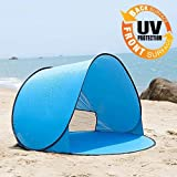 Portable 2-3 Person Auto Pop Up Outdoor Comping Beach Sun Shade Tent (Blue)