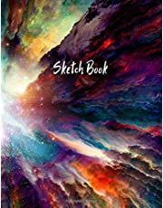 Sketch Book: Notebook for Drawing, Writing, Painting, Sketching or Doodling, 110 Pages, 8.5x11 (Premium Abstract Cover vol.49)