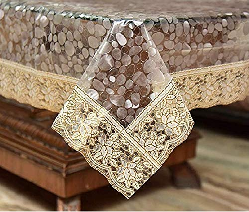 HomeStore-YEP Designer Center Table Cover Waterproof (LXB) 60 X 40 Inches, Golden Lace Price & Reviews