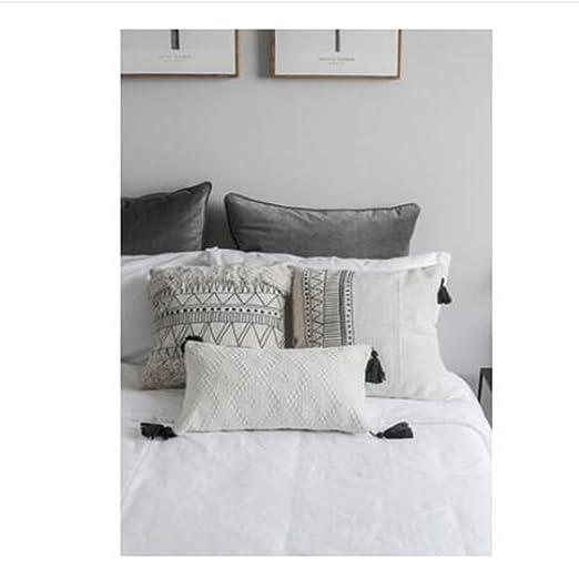 Nordic Style - Funda de almohada geométrica marroquí con ...
