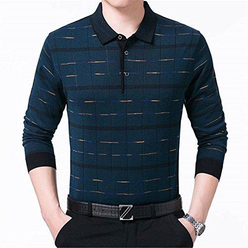 Richard Nguyen Brand Long Sleeve Fitness Polo Shirt Men Camisa Masculino Casual Plaid Polos Shirts Mens Poloshirt Jersey Green L