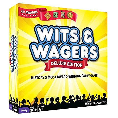 North Star Games Wits & Wagers Board Game   Deluxe Edition, Kid Friendly Party Game and Trivia from North Star Games