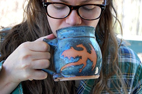 (Slate Blue Dragon Mug)