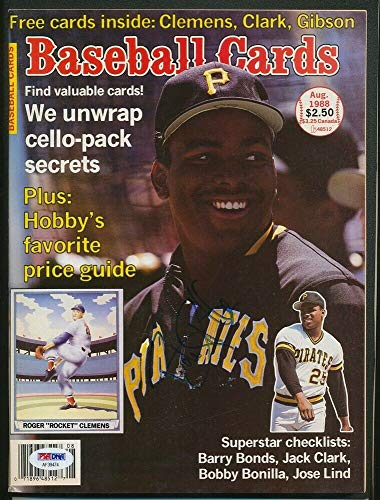 - 1988 Barry Bonds Pirates Baseball Cards Magazine Autographed Signed Sign PSA/DNA - Authentic Memorabilia