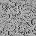 "Cool Tools - Flexible Texture Tile - Flower Doodle - 4"" X 2"" from Cool Tools"