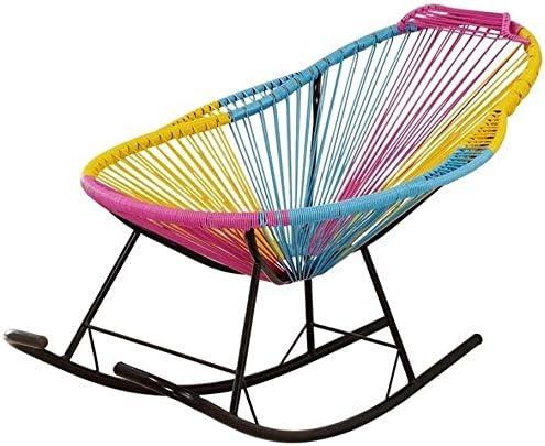 ADHW Ratán Mecedora, Patio reclinable, con tumbonas Silla de ...