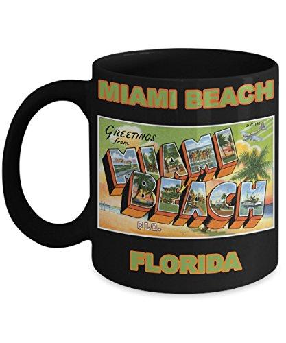(Miami Beach Florida Postcard Large Letter City Mug)