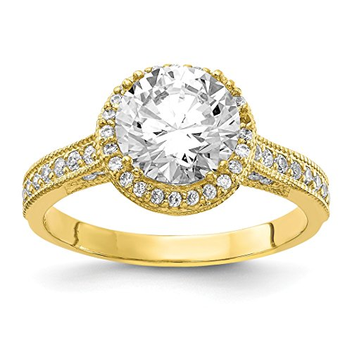10k Yellow Gold Tiara Collection Cubic Zirconia Cz Band Ring Size 7.00 Yc Set Fine Jewelry For Women Gift Set -