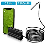 DEPSTECH Wireless Endoscope, Ultra Thin 5.5mm WiFi Borescope, Extreme Long 5h Working Time, Semi-Rigid Snake Inspection Camera with 2200 mAh Battery for iOS & Android Smart Phone & Tablets(16.5ft)
