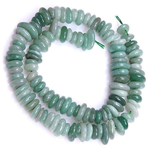 Green Jade Beads for Jewelry Making Natural Gemstone Semi Precious 3-5x10-12mm Freeform Potato Shape 15