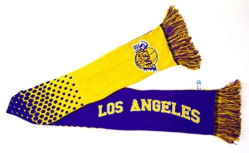 LA Lakers NBA basket-ball pourpre cadeau écharpe d'or USA Los Angeles officielle