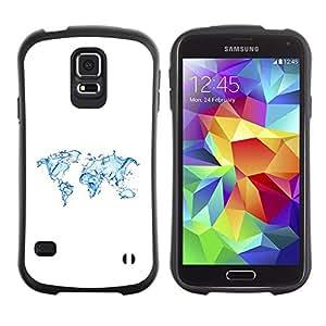 Paccase / Suave TPU GEL Caso Carcasa de Protección Funda para - Continents Earth Water Planet Art Ocean - Samsung Galaxy S5 SM-G900