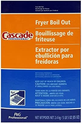 Pack of 6 Cascade with Phosphates Professional Fryer Boil Out 85oz