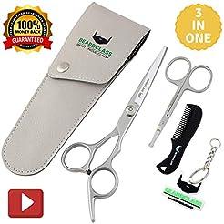 BEARDCLASS Beard Mustache Scissors Kit S...