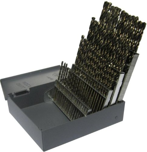 Drill America 60 Piece High Speed Steel Screw Machine (Stub) Drill Bit Set (Wire Sizes: #1 - #60), DWDST Series