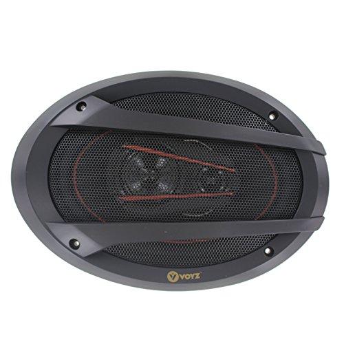 VOYZ 520 Watt Car Speakers 6 x 9 Inches 3 Way - High Performance Mid-Bass Mid-Range and Neodymium Tweeter 1 Pair (VZ-A8990) ()
