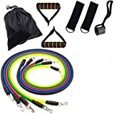 CFX Stretch Bands Exercise Resistance Bands Set, Fitness Resistance Bands Set with 5 Fitness Tubes/Handles/Door Anchor/Ankle Straps/Carrying Pouch/Workout Guides,Best for Men,Women Review