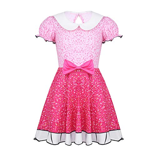 (iEFiEL Girls Kids Dance Ballet Tutu Dress LOL Doll Surprised Costumes Halloween Cosplay Dress up Party Pink)