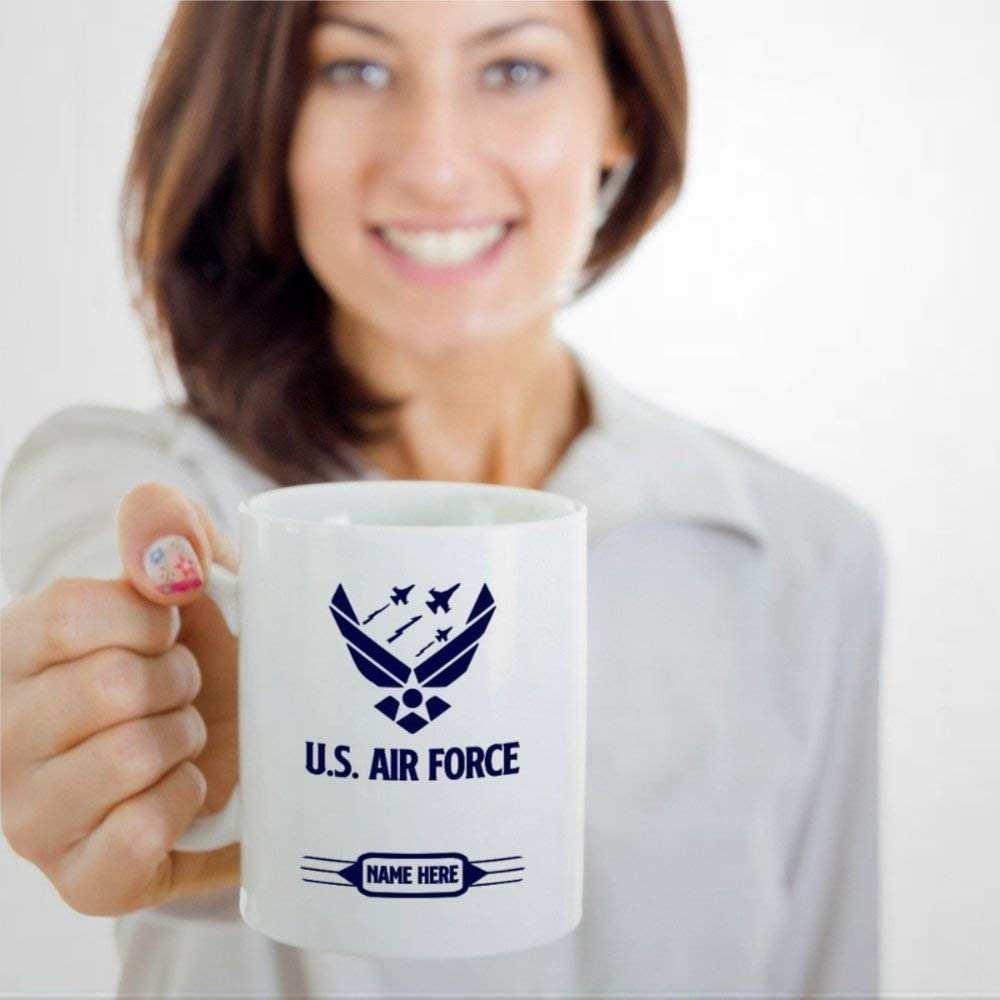 U.S Air Force Coffee Mug,Ceramic Mug Cup for Office and Home,Tea Milk,Birthday For Her or Him,11oz