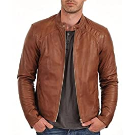 HugMe.fashion Genuine Leather Motorcycle Jacket JK124