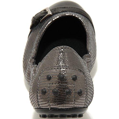 scarpa ballerina donna alluminio nero DEE women shoes 69779 TOD'S FIBBIETTE Z4xS7xq