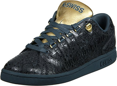 Womens K-Swiss Lozan III Reversible Tongue Twister Trainer Lace Up Leather Shoe Blue muZqT6q3ym