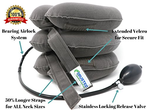 Trusted-Cervical-Neck-Traction-Device-FDA-Approved--One-Size-Fits-All-Chronic-Neck-Shoulder-Alignment-Pain-Relief-Bonus-Travel-Bag-Instructions-Inflatable-Neck-Stretcher-Pillow-Home-Office