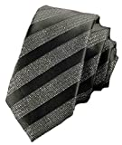 Flairs New York Collection Neck Tie (Black / Glitter Silver [Stripes])