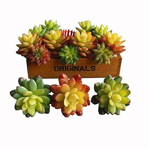 Neomark Set of 3 Vinyl Artificial Succulent Cactus Plants for Office Home Decor Craft Making