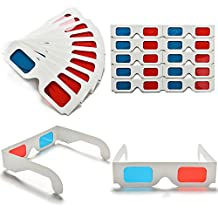 QuiCi 100pcs Universal Anaglyph Cardboard Paper Red Blue Cyan 3D Glasses For Movie