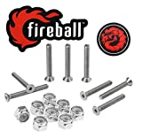 Fireball Dragon Stainless Steel Skateboard Hardware Set (Flat Allen, 1.5'')