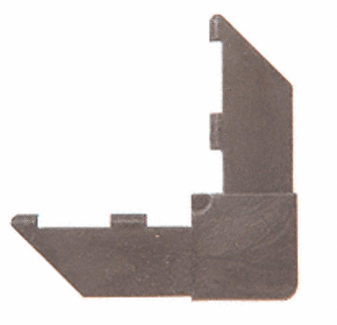 CRL 3/8'' Bronze Square Cut A346 Frame Corner - 100 pack