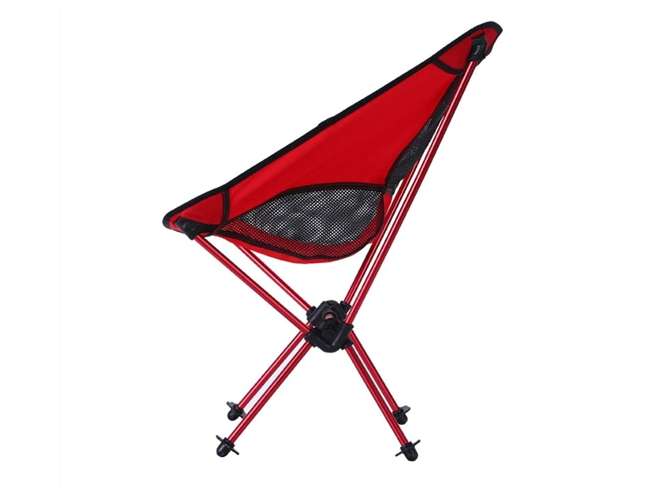 ADream Silla de Pesca Plegable Camping portátil reclinable Silla de Camping Plegable para al Aire Libre y la Pesca (Rojo y Negro) cacfba